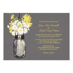 Shop Mason Jar & Wildflowers RSVP Card created by labellarue. Personalize it with photos & text or purchase as is! Mason Jar Wedding Invitations, Spring Wedding Invitations, Custom Wedding Invitations, Wedding Invitation Design, Invites, Invitation Ideas, Wedding Stationary, Party Invitations, Vintage Mason Jars