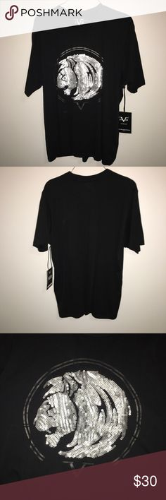 🆕 Versace    Versace 19.69 Italia Black Lion Tee ✨✨✨✨✨✨✨✨✨✨✨✨✨✨✨✨✨ Condition: Perfect   Flaws: —  Unique Details: Very glamours and comfy, the lovely lion design stands out beautifully   Size/Measurements: M  Additional Comments: The tag has been pinned to the shirt. I know it seems odd, but this was how the shirt was purchased at the retail store. Great for everyday wear and use, really carries a unique style. ✨✨✨✨✨✨✨✨✨✨✨✨✨✨✨✨✨  ❗️Feel free to ask any questions❗️ Versace Shirts Tees…
