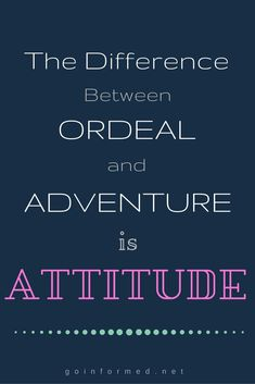 Attitude makes all the difference! #quote