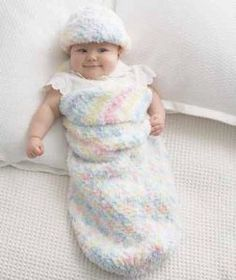 Using the new Bernat Pipsqueak yarn and free crochet pattern you can make this Baby Cocoon and Hat for your new little one. This is an easy to intermediate pattern you will want to add to your collection of projects.