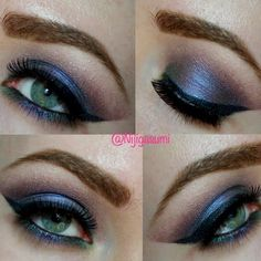 Get this jewel tone smokey eye in under 4 minutes with a super video tutorial. Perfect to get those brown eyes popping for a night out.