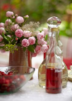 table setting #weddings #functions I like the flowers and the redware pitcher!