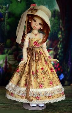 """""""Tea & Roses"""" Dress Outfit Clothes for 18"""" MSD Kaye Wiggs BJD Liz Frost #LuminariaDesigns"""