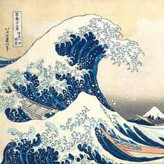 Katsushika Hokusai (Japanese, 1760–1849). Under the Wave off Kanagawa (Kanagawa oki nami ura), also known as the Great Wave, from the series Thirty-six Views of Mount Fuji (Fugaku sanjūrokkei), ca. 1830–32.