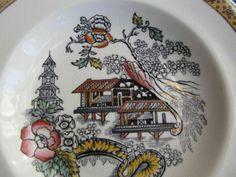 Antique Rorstrand porcelain PLATE Sweden Japan Motive Japanese Craquelure #Rorstrand