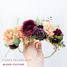 Flower Crown Tutorial by Bloom Culture Flowers. DIY Wedding Flowers - we do the hard part so YOU can Flower Crown Tutorial, Diy Flower Crown, Diy Crown, Floral Crown, Flower Crowns, Diy Wedding Flowers, Wedding Flower Arrangements, Wedding Crowns, Wedding Decor