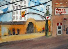 Crosbys Life Paintings: Noah's Bagels