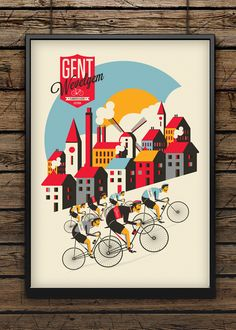 Spring Classic Cycling // Design Illustration by Neil Stevens Bicycle Illustration, Illustration Photo, Graphic Illustration, Illustration Inspiration, Bike Poster, Vintage Cycles, Bicycle Art, Bicycle Sketch, Cycling Art