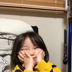 Cute Asian Babies, Korean Babies, Cute Babies, Baby Buns, Cute Baby Girl Pictures, Ulzzang Kids, Cute Memes, Baby Shark, Girl Humor