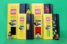 Lego Moleskine Notebook: I know a little boy who would adore these. Have to wait until March though.