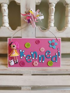 Lalaloopsy Personalized Door Hanger Ornament Wall Hanging Girl Dolls Toy Custom Doll Plaque Party Favor