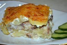 Рецепт картофельной запеканки - сытной и необычной. Блюдо готовится со свежемороженой скумбрией. Ингредиенты, описание приготовления.