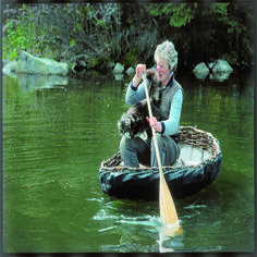 How to build a coracle, a large, basket-like woven boat. Includes how to build and lash a coracle, weaving a boat layout, bending the ribs of the boat and boat waterproofing recipe. Originally published as
