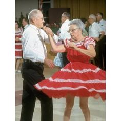 My mom and dad were square dancers.  I thought they looked so pretty in their matching outfits.  I loved my mama's petticoats.