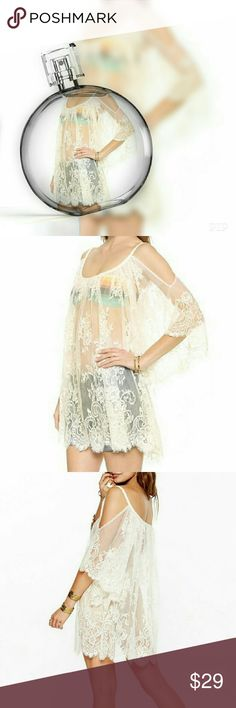 Last one!!! Boho cover top. Great white boho top just in time for the summer. Botique  Tops
