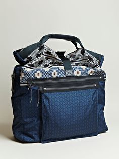 Lanvin Men's Oversized Printed Messenger Bag SS12