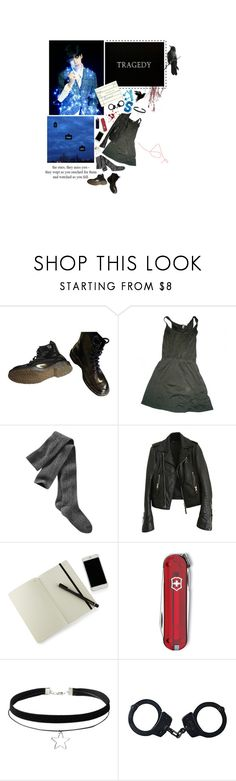 """would rather die"" by hobibb ❤ liked on Polyvore featuring Dr. Martens, American Apparel, Gap, Balenciaga, Moleskine and Victorinox Swiss Army"