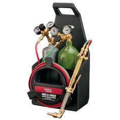 Lincoln Electric Port-A-Torch Kit at Lowe's. The Lincoln Electric Port-A-Torch kit allows you to cut, weld and braze all in 1 lightweight carrying case. The kit is designed to be easily carried to Electric Welding, Gas And Electric, Electric Power, Welding Tips, Welding Projects, Welding Torch, Acetylene Welding, Welding Goggles, Welding And Fabrication