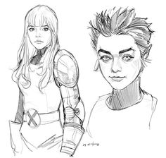 Novos Mutantes: Phil Noto faz esboço de Anya Taylor-Joy e Maisie Williams como Magia e Lupina