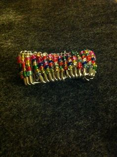 Beaded Safety Pin Bracelet by CConnections12 on Etsy, $10.00