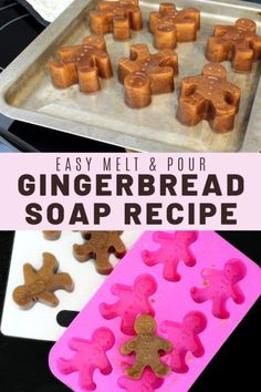 Best DIY Christmas gifts ideas on Pinterest to craft this weekend for friends & family. Homemade holiday gifts and ideas! Learn how to craft these easy homemade melt and pour gingerbread soap recipe for homemade holiday gifts and seasonal DIY stocking stuffers. Easy gingerbread men soaps. How to make holiday soaps for DIY Christmas gifts. Plus DIY gift wrapping ideas! Best handmade holiday gifts on Pinterest. Easy beginner soap recipe for handmade holiday gifts & ideas for gift wrapping…