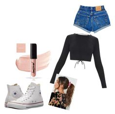 """""""Untitled #6"""" by kholofelomokgohloa on Polyvore featuring Converse and Nasty Gal"""