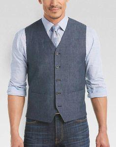 Mens vests: the vested interest mens vests joseph abboud gray foot modern fit twill vest - tailored vests Blue Vests, Men's Vests, Grey Vest, Black Vest, Patagonia Vest Outfit, Joseph Abboud, Workout Vest, Suit Vest