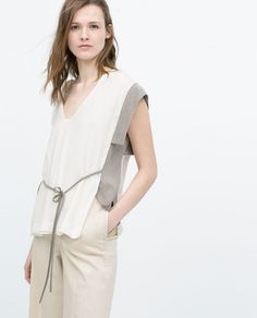 CONTRAST KIMONO T-SHIRT-View all-Tops-WOMAN-SALE | ZARA United States