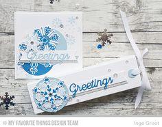 Snowflake Sparkle Card Kit - Inge Groot  #mftstamps