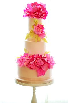 Wedding Cake - California Weddings: http://www.FresnoWeddings.Net/