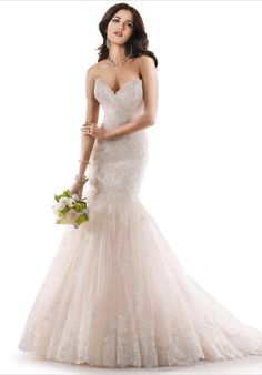Maggie Sottero mermaid styled gown with dropped waist, corset, and embellished lace I Style: Marianne I https://www.theknot.com/fashion/marianne-maggie-sottero-wedding-dress?utm_source=pinterest.com&utm_medium=social&utm_content=june2016&utm_campaign=beauty-fashion&utm_simplereach=?sr_share=pinterest