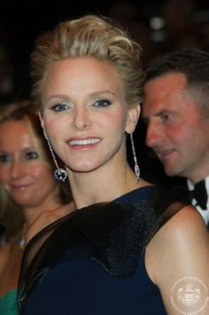 Princess Charlene of Monaco attends the Rose Ball at Sporting Monte-Carlo on 29.03.14 in Monte-Carlo, Monaco