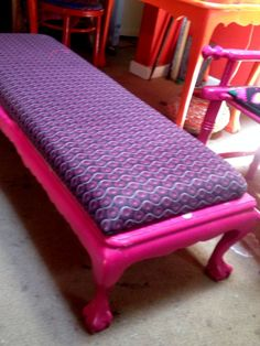 Shweshwe Ottioman by ACE Recycled Furniture, Furniture Decor, Painted Furniture, Lounge Cushions, Magazine Design, Decoration, Printing On Fabric, Cape, Toddler Bed
