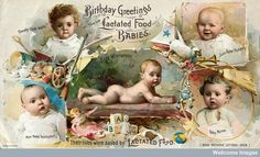 Birthday greetings from five lactated food babies ANOTHER AD I'M GOING TO HAVE TO LOOK UP (TAG: PUBLIC DOMAIN)