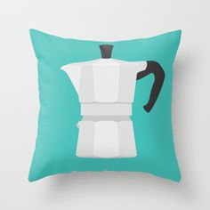 #67 Bialetti Throw Pillow