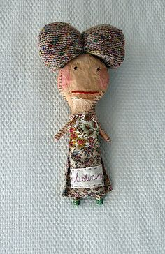 Julie's doll | Flickr - Photo Sharing!   Julie Arkell such an amazing artist!