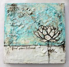 """{""""Premiere Etchings"""" series, 16 x 16""""} last week i started working on my first 2 pieces of encaustic art (see post here) with the intention of making it a 5 piece series. over the weekend i managed to complete the..."""