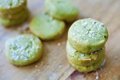 [Matcha Cookies With Almond] + Click For Recipe!  #easy #asian #japanese #recipes