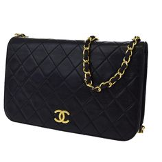 fa9a6e72e67a Chanel Single Chain Quilted Black Lambskin Shoulder Bag 84% off retail.  Tradesy