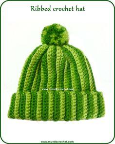 Háčkování žebrované klobouk