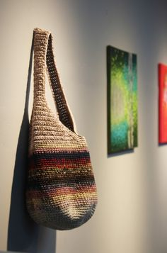 Love Crochet, Knit Crochet, Linen Bag, Crochet Handbags, Textiles, Purses And Bags, Embroidery, Tote Bag, Knitting