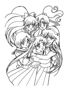 coloring page Sailor Moon on Kids-n-Fun. Coloring pages of Sailor Moon on Kids-n-Fun. More than coloring pages. At Kids-n-Fun you will always find the nicest coloring pages first! Sailor Moons, Sailor Moon Manga, Sailor Moon Crystal, Sailor Moon Art, Sailor Moon Coloring Pages, Cute Coloring Pages, Adult Coloring Pages, Coloring Books, Sailor Scouts
