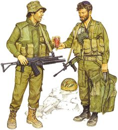 """Infantryman, & Capt., Barak Bn.; Golani Bde; Sidon, 1985"", Ron Volstad"