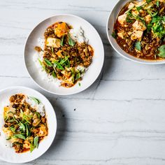 Spicy, mouth-tingling, porky: Those are the words you'll be using to describe this tofu recipe.