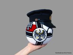 Imperial German Navy  Here is my newest creation. I've been requested to make an Imperial Germanyball with the Naval Officer Peaked Cap. Well, sorry Prussiaball, but this countryball now takes the glorious 1st place of most difficult countryball I've ever did! Also, was trying few things out during the creation, so, how do you like it? I'd like to hear your feedback!