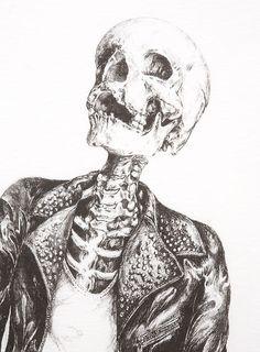 Punk rock skeleton.