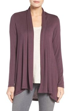 Bobeau High/Low Jersey Cardigan (Regular & Petite) available at #Nordstrom