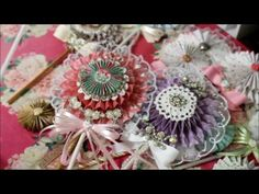 Thank you for sharing some of your time with me, after enjoying my video, would you consider subscribing, liking & leaving a sweet comment. I hope you feel i. Paper Rosettes, Crepe Paper, Fabric Crafts, Paper Crafts, Envelope Tutorial, Pocket Envelopes, Shabby Chic Cards, Paper Ornaments, Paper Fans