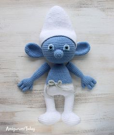 Crochet Smurf amigurumi pattern - assembly