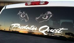 PQ Signature Series Large Decal Coyote Hunting, Rear Window, Decals, Truck, Design, Tags, Sticker, Trucks, Track